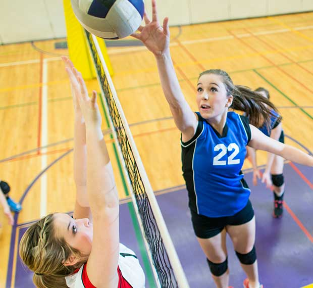 Get coverage for volleyball matches